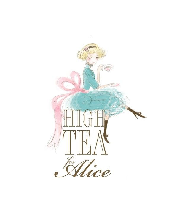 Logo Design, Illustration Custom Business Logo Design - @agutteling - here is a tea time girl for you Alice :)