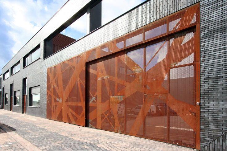 Gateway colloboration between graphic surgery and penta architecten perforated corten steel - Architectuur staal corten ...