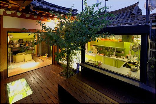 simple life :: Traditional Korean House Design with Modern Italian Style Interior