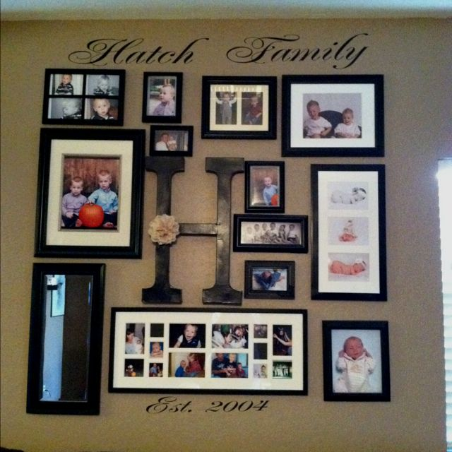 Our family photo wall