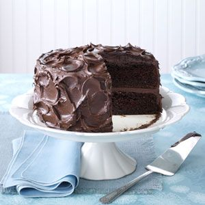 Come-Home-to-Mama Chocolate Cake (try a chocolate cake made with pudding, buttermilk AND sour cream).
