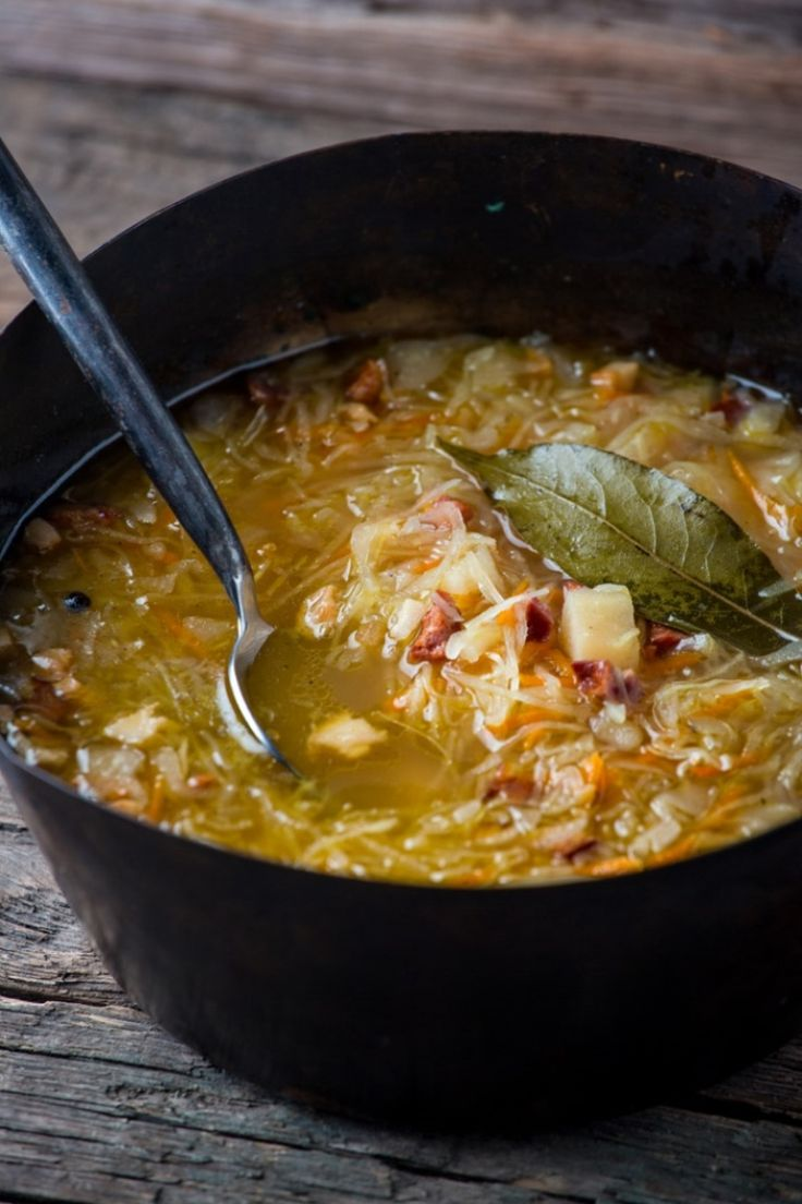The #Cabbage #Soup with Smoked Ribs (#Kapusniak) is a tasty Polish dish prepared from a blend of cabbage, ribs and vegetables. Check www.tastingeurope.com for the recipe! #Poland