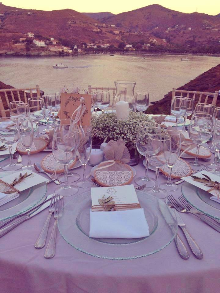 Table With The View, Wedding Menu, Baby's Breath, Sea View, Wedding Landscape