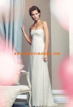 Mikaella sans bretelle robe ivoire glamour dentelle robe de mariée