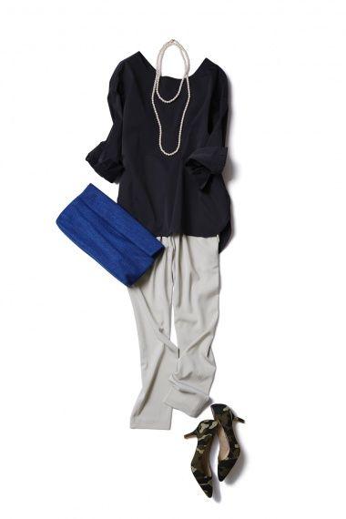 アイスグレーの技ありパンツで始める、大人リラックスな新生活 ― B-ファッションコーディネート通販 ビストロ フラワーズ トウキョウ