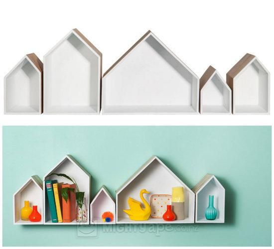 General Eclectic Row Houses Shelving