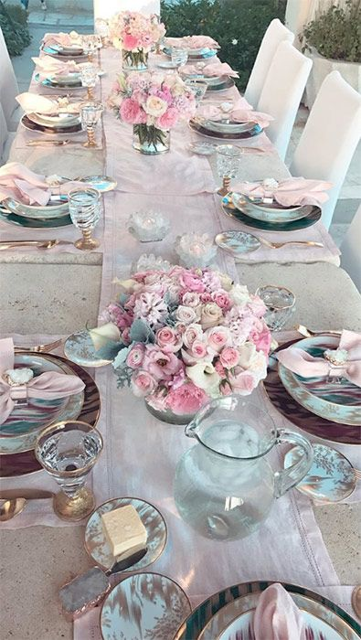 Khloe Kardashian Hosts Lavish Dinner Party To Celebrate Birth Of