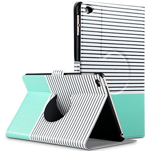 ULAK 360 Degree Rotating Ultra Thin Stand Case Cover With Auto Wake / Sleep for Apple iPad Mini 4 (2015 release) (Fits ONLY iPad Mini 4th Generation) (Stripes/Mint Green) ULAK http://www.amazon.com/dp/B016ZYA5Z4/ref=cm_sw_r_pi_dp_vebwwb0PD6AJ7