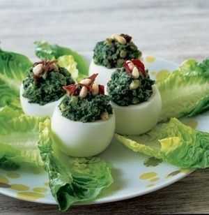 Jajka faszerowane na zielono