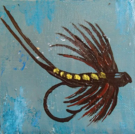 Reserved for mkb original abstract painting oil on canvas for Fishing lure paint