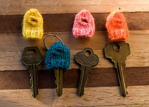 knithacked key cozies.