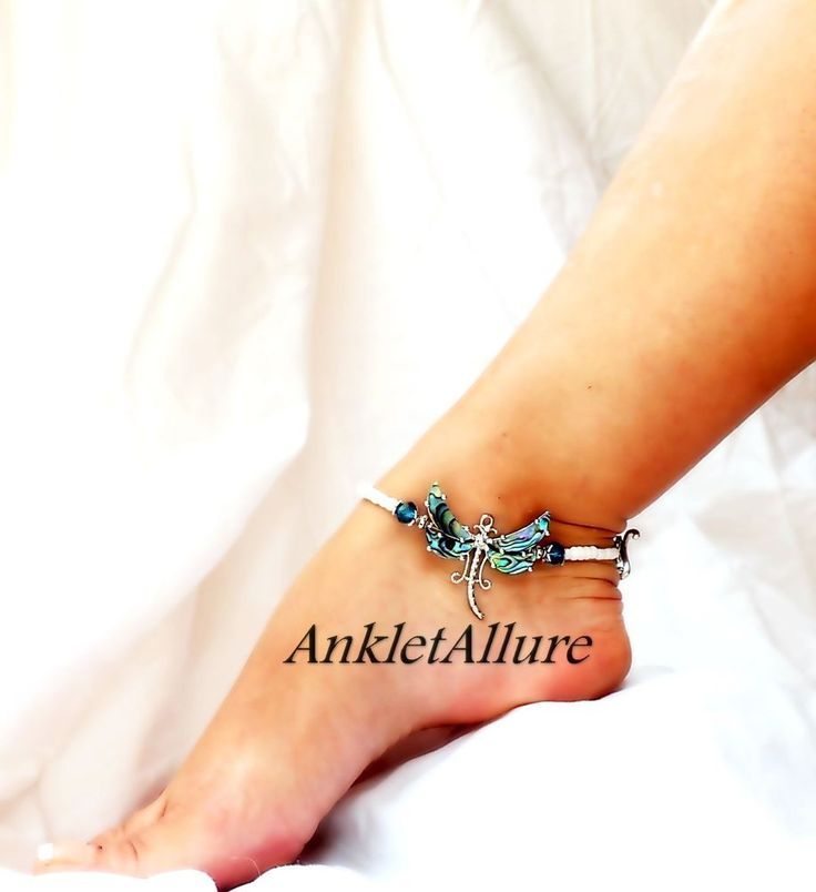 Custom Dragonfly Anklets Abalone Shell Ankle Bracelets VERY Hard To Break Dragonfly Lover Jewelry Summer Sandals Beach Resort Cruise Vacation Beach Skirt Beach Sandals Beach Jewelry Peasant Skirt Gypsy Skirt Leggings Jeggings Capris Foot Jewelry. | eBay!