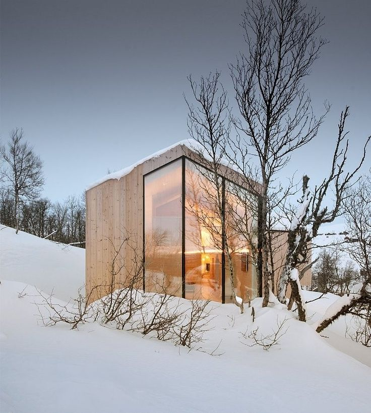 Split View Mountain Lodge+by Reiulf Ramstad Arkitekter