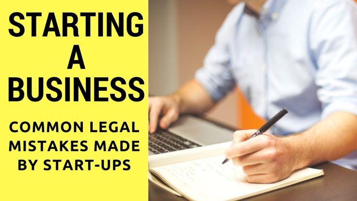 Business Startup Tips - Legal Issues for Entrepreneurs - Common Legal Mi...