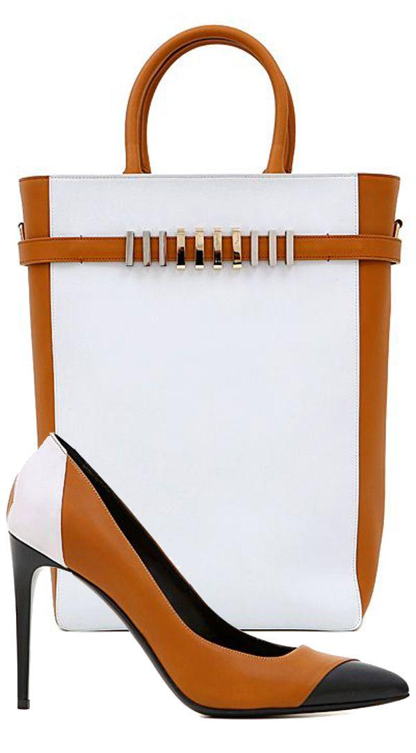 Balmain - 2015 SS ~ Handbag & Shoes, white & camel