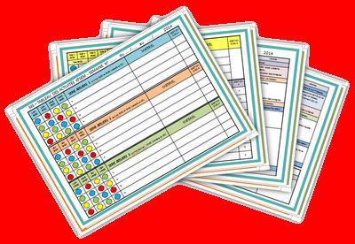 Un très bel exemple de cahier journal pour la maternelle sur le site de Chocolatine.