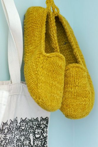 Malabrigo Loafers. Would I wear them? I don't know--but they are dang cute and look fun to make.
