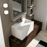 Mobile bagno PuntoTre serie TIME   Lavabo in tecnoril