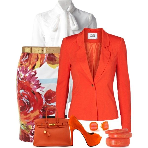 Shades of Orange, created by terry-tlc on Polyvore