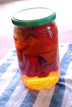 Cómo hacer pimientos morrones al natural, receta de conserva casera. Mañana los estaré preparando para mi papá que le encantan!