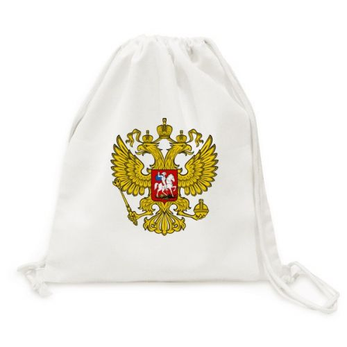 Double-headed Eagle Russia Symbol Canvas Drawstring Backpack Shopping Travel Lightweight Basic Bag Gift #Backpack #Russia #CanvasBag #Eagle #CanvasBackpack #Animal #DrawstringBackpack #TravelBackpack #PrintingBackpack #Fashion #TravelBags