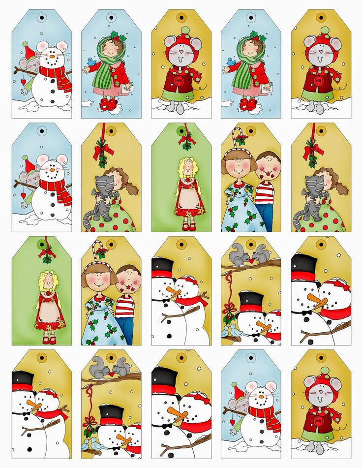 Christmas Tags....here are a bunch of little tags already colored and ready to print. Good for little packages!
