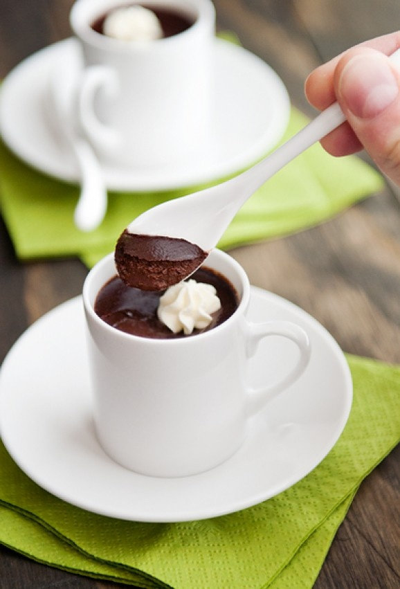 Chocolate Pots de Creme...would eat one every day, if I could!