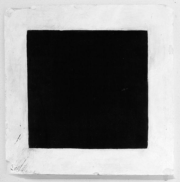 Kasimir Malevitch, Carré noir, 1923 - 1930. Huile sur plâtre, 36,7x36,7x9,2 cm. (Suprematisme)