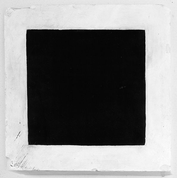 Kasimir Malevitch, Carré noir, 1923 - 1930. Huile sur plâtre, 36,7x36,7x9,2 cm.