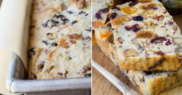 Recept na sladký chléb se sušeným ovocem a ořechy