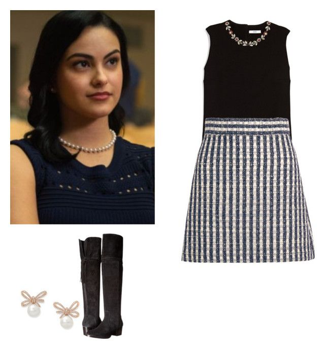 Veronica Lodge outfit with a skirt and knee boots , riverdale by shadyannon  on Polyvore featuring