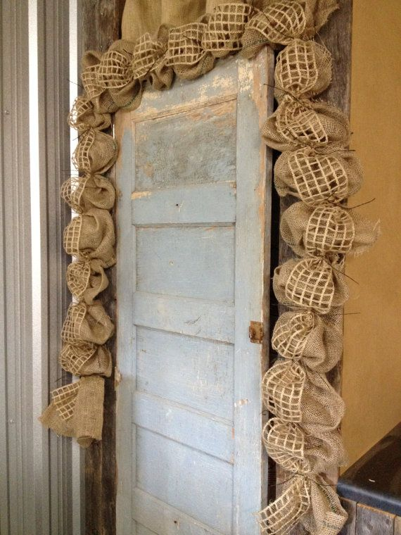 25+ best ideas about Burlap garland on Pinterest Christmas garland with lights, Rustic holiday ...