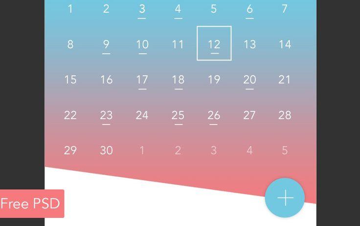Calendar App Widget Design