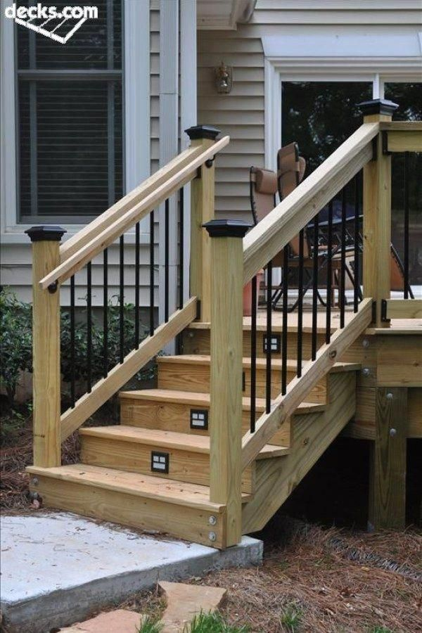 Awesome Diy Wood Deck Plans You Should Try For Your Backyard Deck Handrail Ideas Design No 12501 Dec Id Deck Stair Railing Exterior Stairs Outdoor Stairs