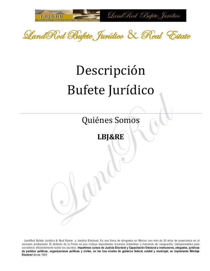 curriculum-bufete-jurdicolandrod by LandRod Bufete Jurídico
