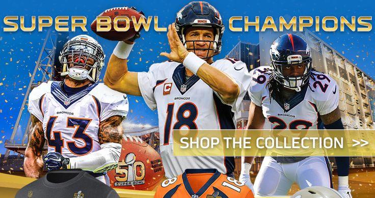 Denver Broncos Super Bowl 50 Champs Apparel | Broncos Super Bowl 50 Gear - Merchandise, Clothing | Broncos Shop