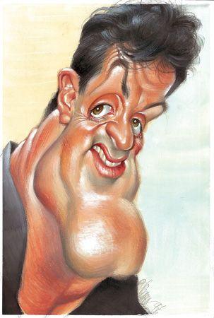 Sylvester Stallone | Las mejores caricaturas de famosos
