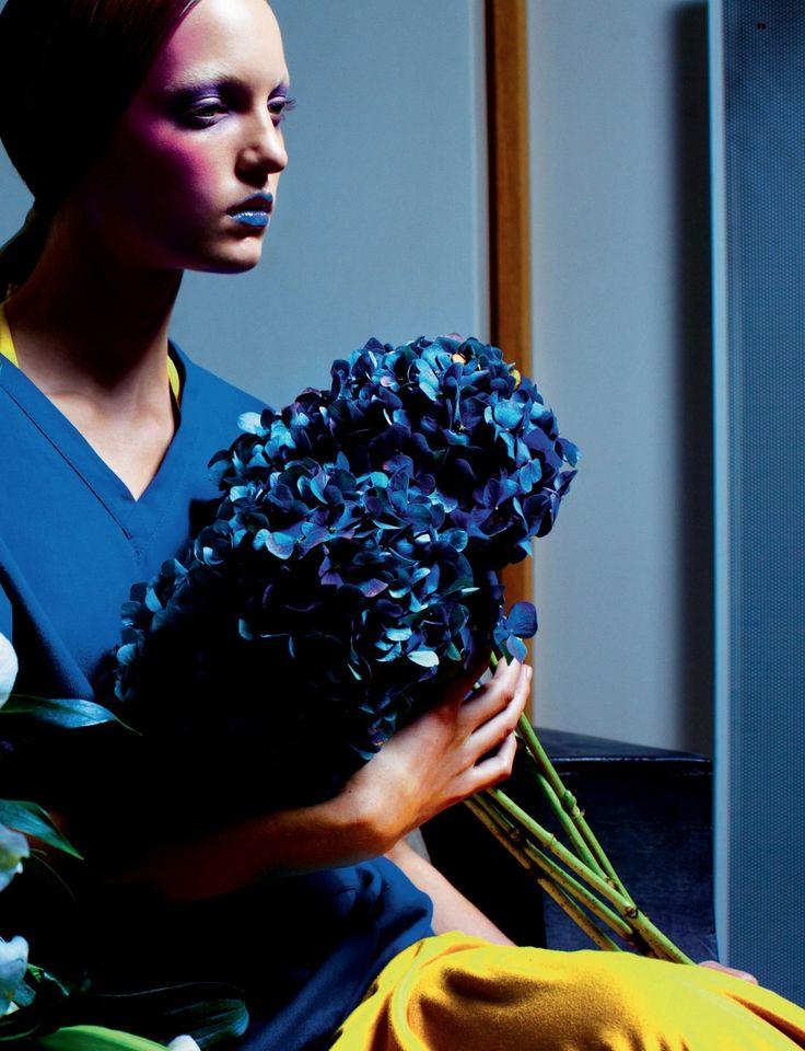 "Dazed & Confused January 2011 ""Primary"" Models: Theres Alexandersson and Eugeniy Savchenko (Sauchanka) Photographer: Kacper Kasprzyk Stylist: Katie Shillingford Hair: Naoki Komiya Makeup: Alex Box"