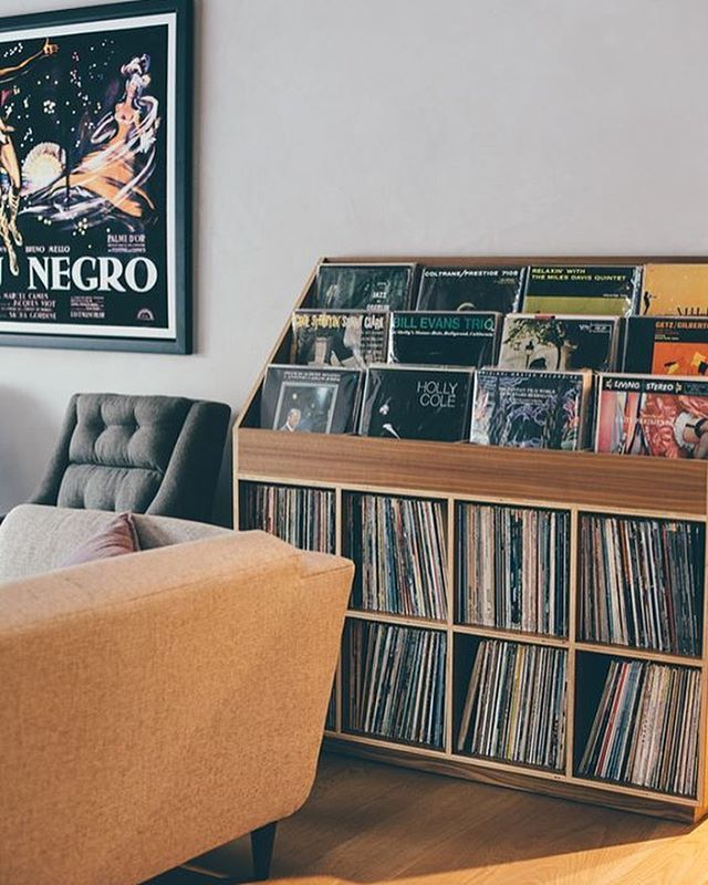 Chilling out in this lovely record room. What are you playing today? : Erin…