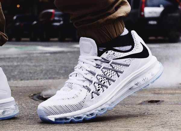888f8b Nike Shoes Air Max 2015 White Nikes Discount White Air Max 2015