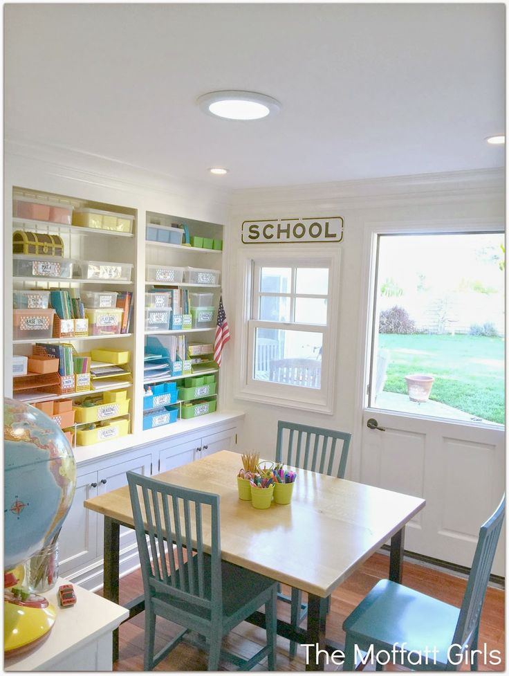Organize your homeschool room! Turn a small space in your home into a beautiful and organized classroom!