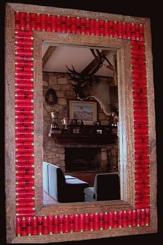 Shotgun shell frame....this would be a great present for a hunting cabin!