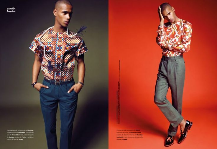Marcin Tyszka Shoots Sacha MBaye for Esquire España May 2013