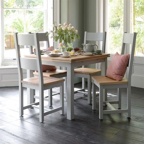 Chester Grey 90cm 155cm Square Ext Dining Table The Cotswold