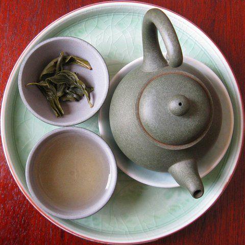 Um chá oolong