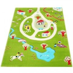 IVI 3D Play Rug, Turquoise Green overview