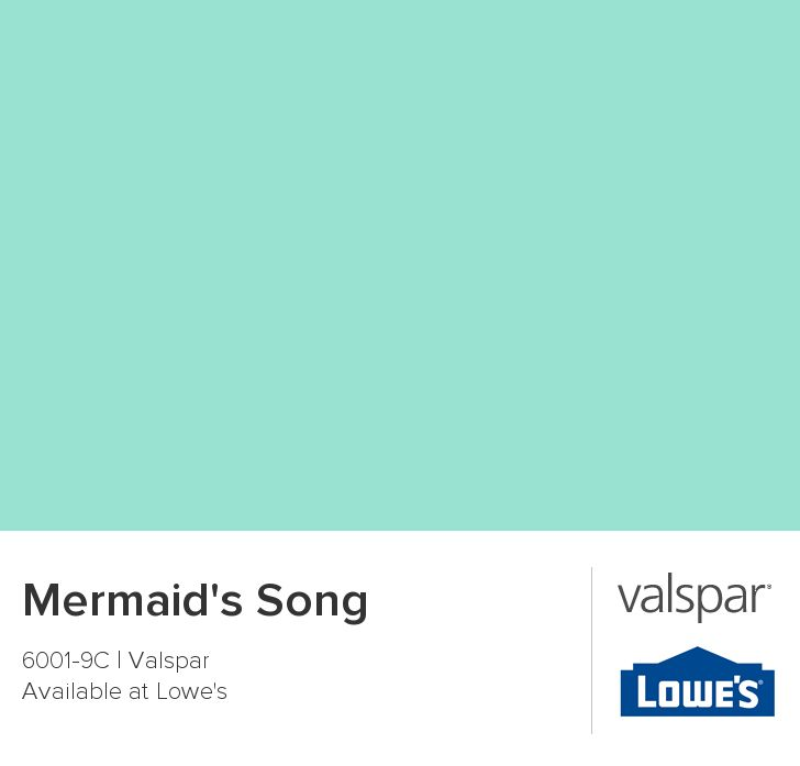 Mermaid's Song from Valspar... the color of the sink room in A's bathroom