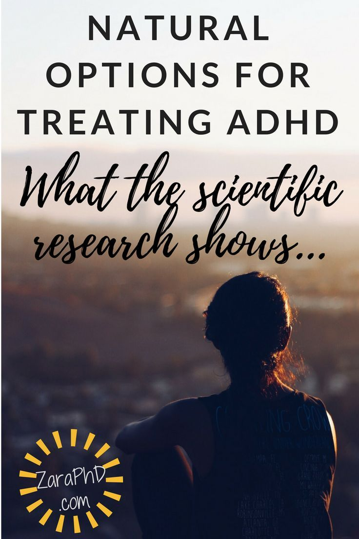 Natural and alternative treatments for ADHD...