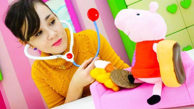 Игры для детей – больничка и клиника для игрушек. Игрушка Свинка Пеппа. ...