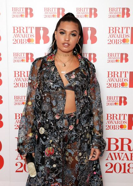 Images from this event are only to be used in relation to this event. Mabel McVey attends The BRIT Awards 2018 nominations photocall held at ITV Studios on January 13, 2018 in London, England.